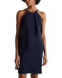 Esprit Collection 020eo1e351 Cocktail Dress - Blue