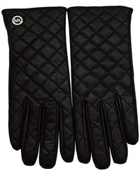 Michael Kors S Quilted Leather Tech Gloves Black