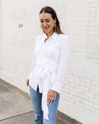 The Drop - Camisa para Mujer Envolvente Abotonada - Lyst