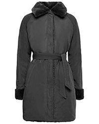 Geox Faux Fur Kaula Reversible Coat Black