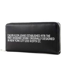 Calvin Klein Zip Around Wallet L Black - Nero