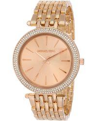 Michael Kors Darci MK3192 Rose-Gold Stainless-Steel Analog Quartz Fashion Watch - Mettallic