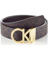 Calvin Klein CK REV.ADJ. NEW MONO BELT 3.5CM Gürtel - Braun