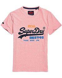 Superdry Vintage Logo Tri tee Camiseta para Hombre - Rosa