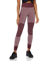 AURIQUE Amazon-Marke: Sportleggings mit hohem Bund und Colour-Block-Design - Mehrfarbig