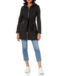 Guess Belted Softshell Jacket With Hood - Multicolour
