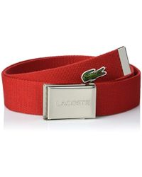 Lacoste - Croc Red Belt - Mens All - Lyst
