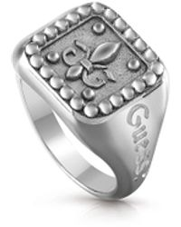 Guess Jewelly / Signet Giglio Ring / Umr70004-66 - Metallic