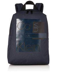 Calvin Klein Layered Round Backpack Schultertasche, 0.1x0.1x0.1 centimeters - Blau