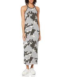 G-Star RAW Aop Maxi Tank Top Business Casual Dress - Grey