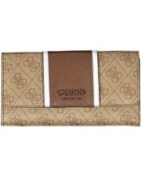 Guess Cathleen SLG Pocket Trifold Brown - Marron