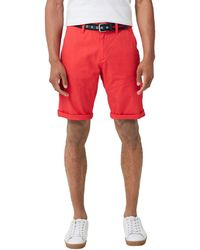 S.oliver RED Label File Loose: Twill-Bermuda Hyper red 31 - Rot