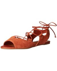 8197a15d94c9 Lyst - The Flexx Lace-up Gladiator Sandal