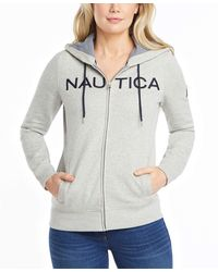 Nautica Go-to Signature Cotton Full-zip Logo Hoodie - Gray