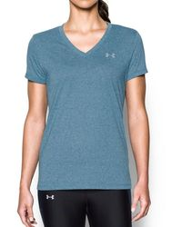 Under Armour Threadborne Train Twist V-neck - Blue