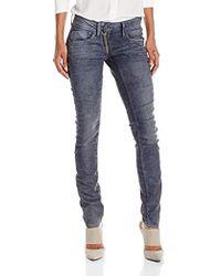 G-Star RAW Lynn Zip Mid Waist Skinny Jeans - Blue