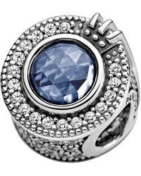 PANDORA Crown O Charm azul brillante en plata/azul. - Multicolor