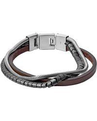 Fossil Bracelet Acier JF03178040 - Marron