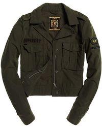 Superdry - Military Crop Jacket - Lyst
