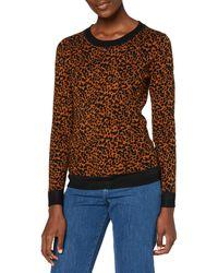 Scotch & Soda Intarsia Knitted Sweater Maglione - Marrone
