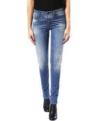 DIESEL Skinzee 0679w Stretch Jeans - Blue
