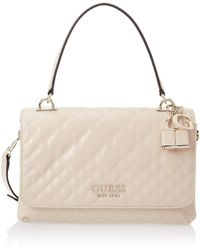 Guess Queenie Top Handle Flap Nude - Natural