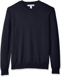 Amazon Essentials Maglione con Scollo a V Pullover-Sweaters - Grigio