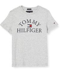 Tommy Hilfiger Essential Logo tee S/s Camiseta - Gris