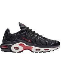067155d34e541 Air Max Plus Premium Mesh Casual Shoes - Black