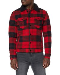 Wrangler Wool Sherpa Jacket Coat - Rosso