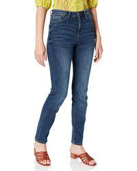 Springfield Jeans Straight Algodón Reciclado Lavado sostenible Pantalones - Azul