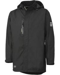 Helly Hansen S Haag Waterproof Windproof Workwear Parka Jacket Black
