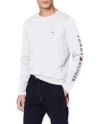 Tommy Hilfiger Tommy Logo Long Sleeve Tee T-Shirt de Sport - Blanc