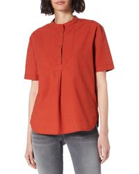 Superdry Grandad Blouse - Rouge