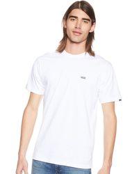 Vans - Men's Left Chest Logo Tee T - Shirt,white (white Black Yb),xx-large (113 - 122 Cm) - Lyst
