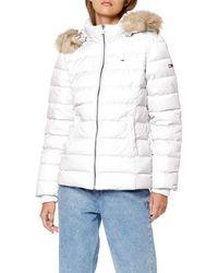 Tommy Hilfiger TJW Essential Hooded DOWN Jacket Jacke - Weiß
