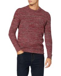 Superdry Upstate Crew suéter - Rojo