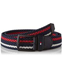 Tommy Hilfiger Denton Elastic Stripe 3.5 Belt - Blue