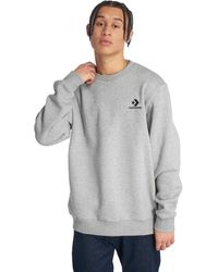 Converse Star Chevron EMB Crew Sweatshirt - Grau