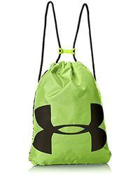 Under Armour Erwachsene Ozsee Sackpack strapazierfähiger und robuster Turnbeutel, vielseitige Sporttasche mit viel Platz - Gelb