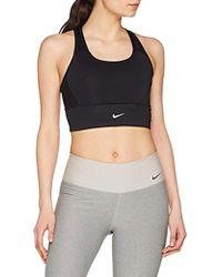 fb3f5c3d43 Nike Swoosh Futura Sports Bra in Pink - Lyst