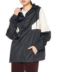 Volcom Lightweight Quarter Zip Hooded - Black