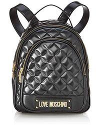 Love Moschino Borsa Quilted Nappa Pu, Sacs portés dos - Noir