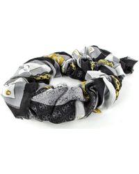 Guess Camy Printed Kefiah Scarf Coal - Mehrfarbig
