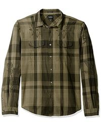 Guess - Jake Voile Plaid Shirt - Lyst