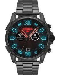 DIESEL Smartwatch Uomo con Cinturino in Acciaio Inox DZT2011 - Nero