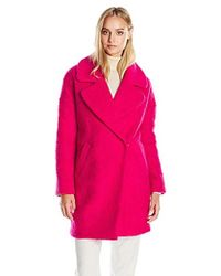 Betsey Johnson - Cocoon Wool Coat - Lyst