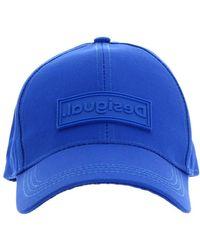 Desigual Logo Cap Blue - Bleu