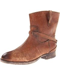 Frye Lindsay Plate Short Boot - Brown