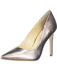 Praylee Textile Shimmer Pointy Toe Pumps